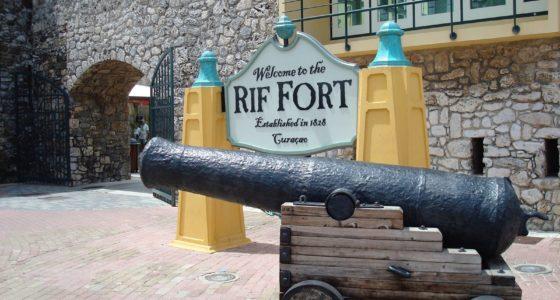 Het Rif fort op Curaçao
